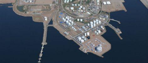 Hamina LNG-terminal. Bildkälla: Wärtsilä