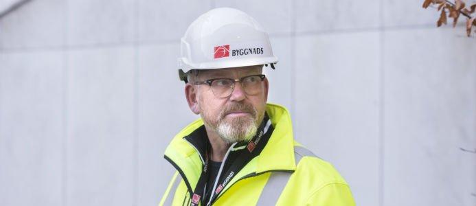 Byggnads ordförande Johan Lindholm. Bildkälla: Byggnads