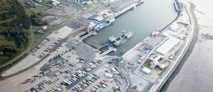 Heysham är den första brittiska terminalen som Hogia levererar terminalsystem till. Bild: Peel Ports