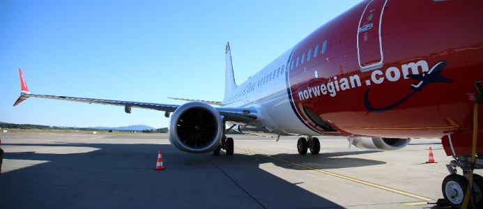 Norwegian Boeing 737 MAX 8. Bildkälla: Norwegian