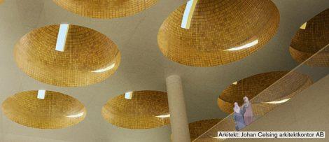 Utformningsförslag för moskén av Arkitekt Johan Celsing.