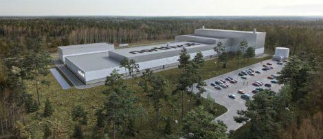 Bild på Northvolts anläggning i Skellefteå. Bildkälla: Serneke