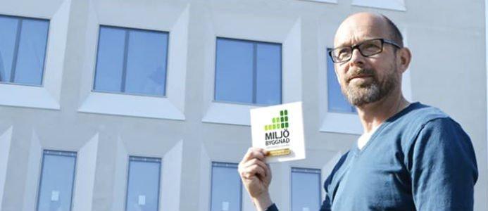 Lars Netzell, biträdande projektchef vid bygget av Framtidens Sös, är nöjd med certifieringen. Foto: Helle Ambrén.