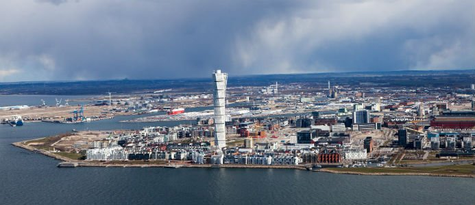 Genrebild, flygfoto Malmö. Bildkälla: Pixabay / creative comons