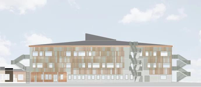 Frösåkersskolan. BIldkälla: Sh bygg