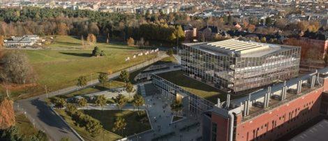 Översiktsbild tillbyggnad Ångströmlaboratoriet, Uppsala Skiss: Tema