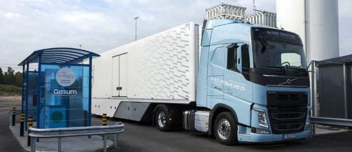 Gasum Volvo LNG, LBG. Foto: Gasum