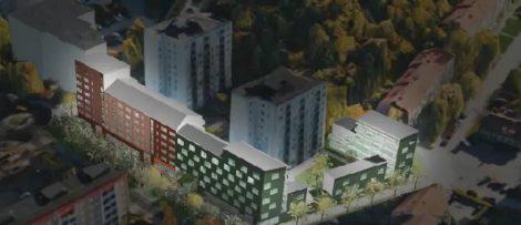 Byggstart för 104 hyresrätter i Jakobsberg. Bildkälla Järfalla kommun