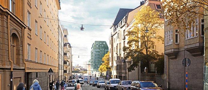 Lägenhetshus i Sabbatsberg