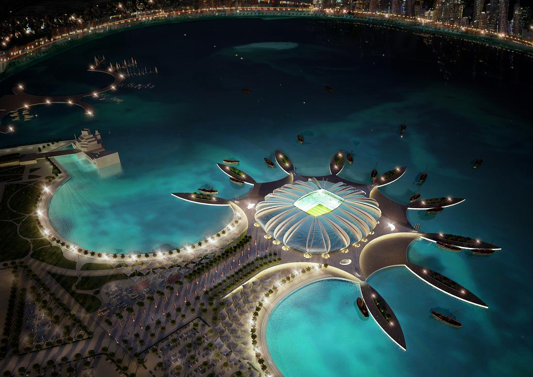 Bild 2 av 9: Doha Port Stadium which is set to be built in Doha. (qatar.to)