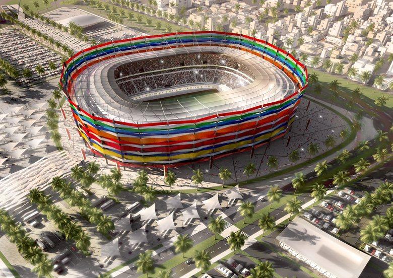 Bild 5 av 9: Al-Gharafa Stadium also in Al-Rayyan area. (AFP/ file)