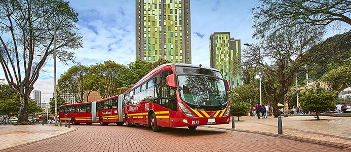 Volvo bussar i Bogota, Colombia