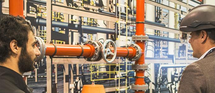 Mingelbild från konferensen. Foto: Hexagon