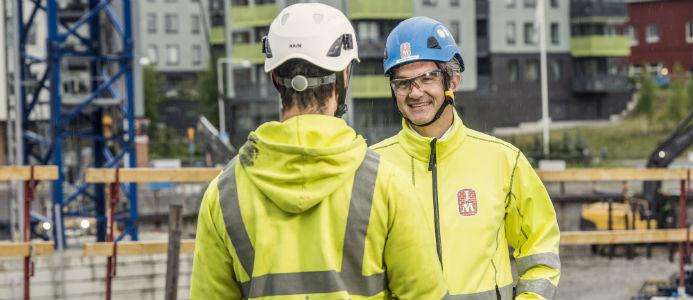 På bilden syns JMs vd och koncernchef Johan Skoglund. Foto: JM