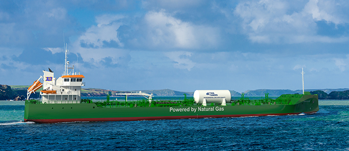 Preems nya miljövänliga fartyg.