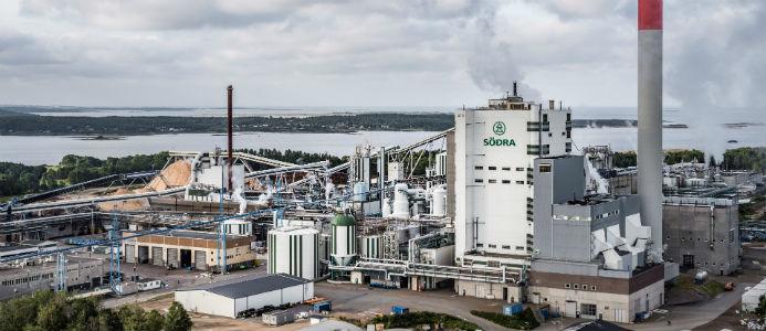 Massafabriken Södra Cell Värö. Foto: Södra/Per Pixel Petersson