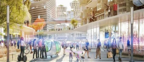 Forskningsprojektet syftar till att ta fram modeller för multifunktionella gator. Visualisering: Sweco
