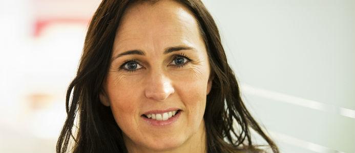 Therese Berg, hållbarhetschef på Riksbyggen. Foto: Riksbyggen