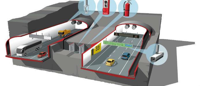Bild från Trafikverket. Tunnel i genomskärning (E4 Förbifart Stockholm).