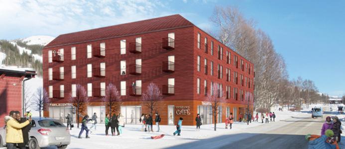 Nytt lägenhetshus i Duved