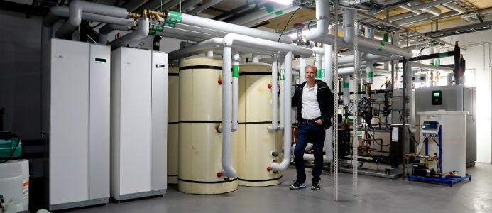 Bild på Enex hos Brf Optimus. Foto: Enex