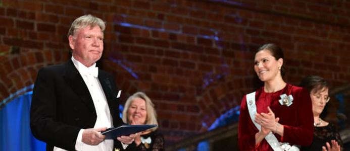 Bengt Andersson Gull och kronprinsessan Victoria. Foto: Kungl. Skogs- och Lantbruksakademien