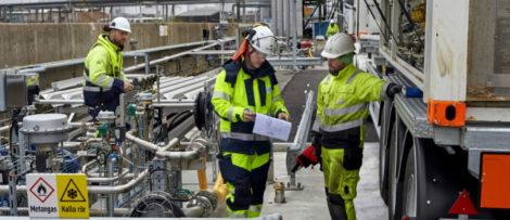 Bild från invigningen. Foto: Swedegas