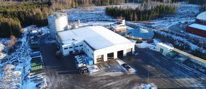 Biogasanläggningen på Önsta Gryta. Foto: Henrik Westman, VafabMiljö