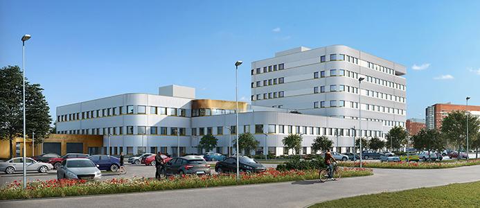 Kalmar Länssjukhus nya psykiatrin.