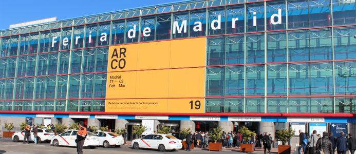 Entrén till mässan IFEMA, Feria de Madrid. Foto: Jessica Nejman
