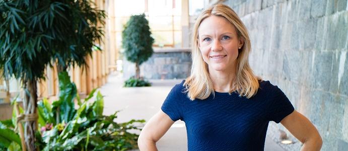 Maria Brogren, chef för hållbarhet och innovation på WSP. Foto: WSP