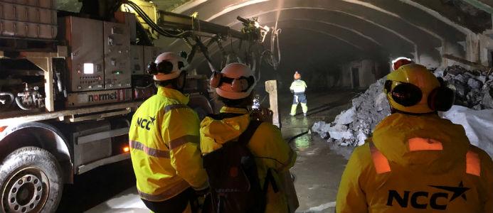 tunnelbana, NCC, infrastruktur