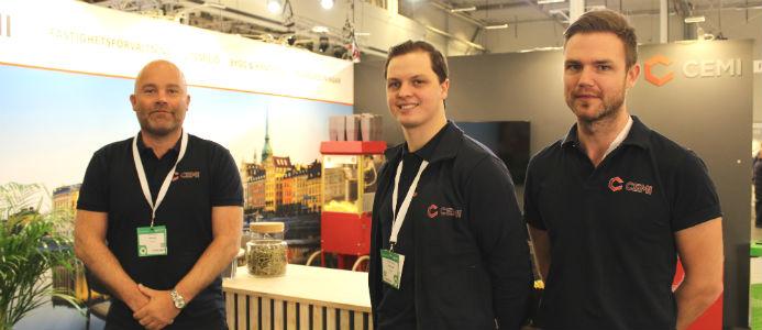 Tv Per Hedström, CEMI samt kollegor Johannes Hedström och Frej Jansson. Foto: Jessica Nejman