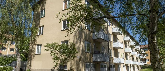 Bild på ett av HEBAs renoveringsprojekt i Gubbängen. Foto: HEBA