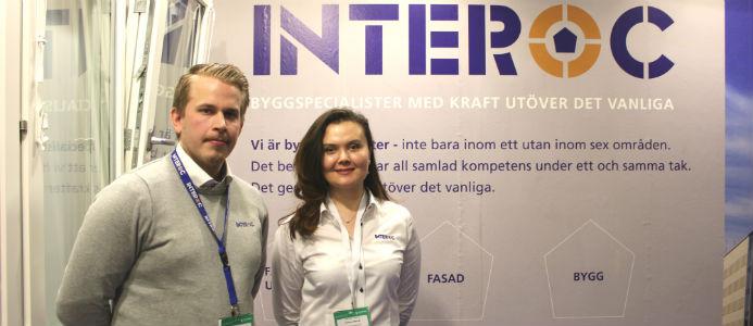Richard Hellström på Interoc med kollegan Maftuna Turdieva. Foto: Jessica Nejman