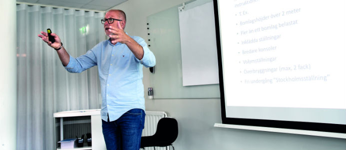Håkan Carlsson från Ställningsentreprenörernas kansli. Foto: Peter Gustafsson