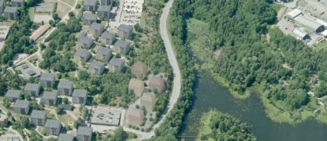 Fem punkthus planeras att uppföras i området Pylonen.