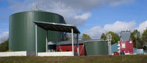 SLU:s biogasanläggning vid Lövsta forskningscentrum ca 8 kilometer utanför Uppsala. Foto: Åke Nordberg, SLU