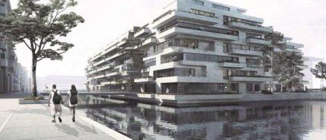 Projektet är ritat av Vilhelm Lauritzen Arkitekter og Cobe samt ritkontoret STED, som ansvarar för landskapsarkitekturen.