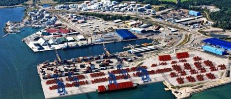 Fotograf: Gävle Hamn Containerhamnen där det nya lagret ska byggas