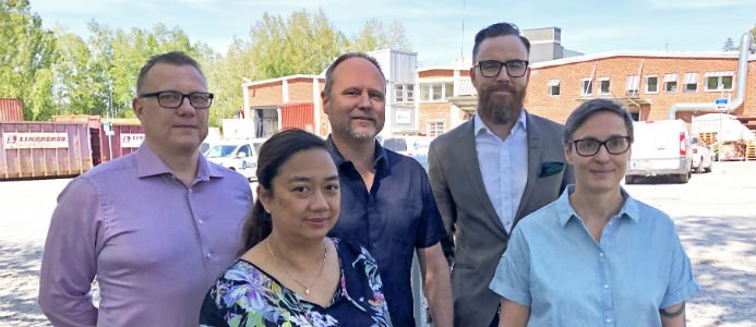 David Lindahl, Sofia Carlsén, Magnus Ekman, Daniel Eriksson och Susanne Hansson på Instamate. Foto: Instalco