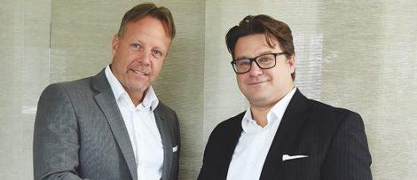 Mattias Lundgren SSM och Mikael Bölander Mecon Bygg