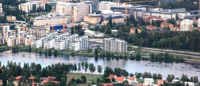 Öbacka Strand i Umeå. Bild: Bonava