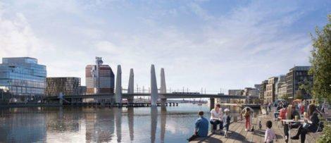 Såhär ska bron se ut när den är klar. Bild: Göteborg Stad