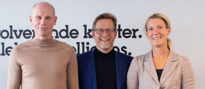 Mats Nyström, Jimmy Bengtsson & Charlotta Nilsén. Foto: Veidekke
