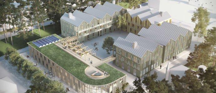 Skanska ska bygga en ny högstadieskola i Arvika. Fotograf: Brunnberg & Forshed Arkitektkontor