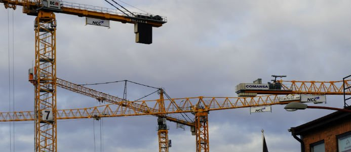 minskning av konkurser inom byggbranschen