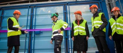 Invigning av Stockholm Exergis pilotprojekt för koldioxidinfågning. Fotograf: Johan Larsson, Allvar Communication