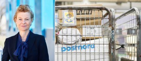 Annemarie Gardshol Koncernchef PostNord och Chef PostNord Sverige. Bild: Postnord
