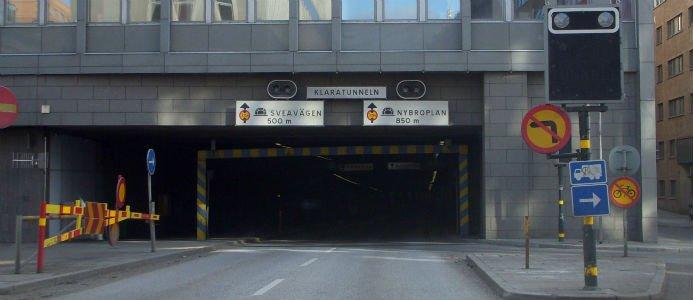 Klaratunneln stängs av i minst ett och ett halvt år. Bild: Holger Hellgaard Wikipedia.